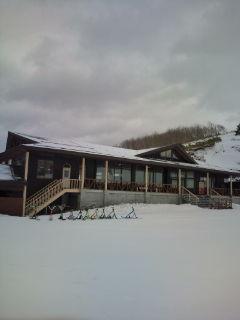 4月17日山は雪